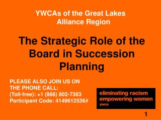 The Strategic Role of the Board in Succession Planning