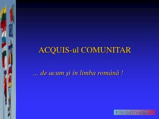 ACQUIS-ul COMUNITAR