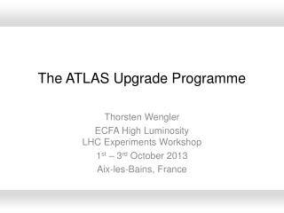 The ATLAS  U pgrade  Programme