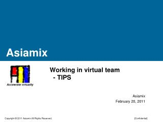 Working in virtual team   - TIPS