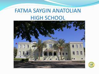 FATMA SAYGIN ANATOLIAN                                  HIGH SCHOOL