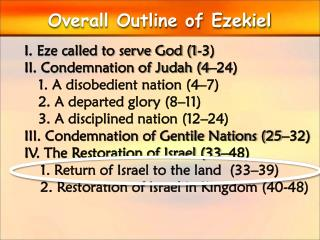 Overall Outline of Ezekiel