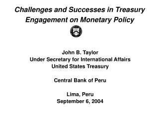 Challenges and Successes in Treasury Engagement on Monetary Policy