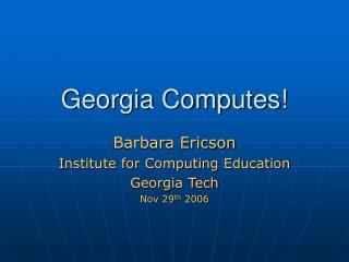 Georgia Computes!