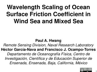 Wavelength Scaling of Ocean Surface Friction Coefficient in Wind Sea and Mixed Sea