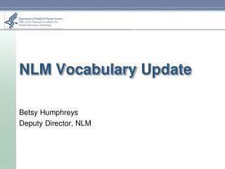 NLM Vocabulary  Update