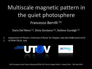 Multiscale magnetic  pattern in the  quiet photosphere
