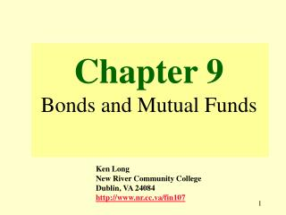Chapter 9 Bonds and Mutual Funds