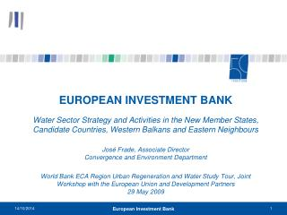 EIB annual lending and the financial crisis