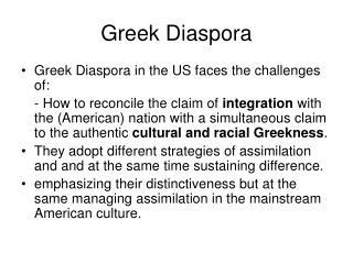 Greek Diaspora