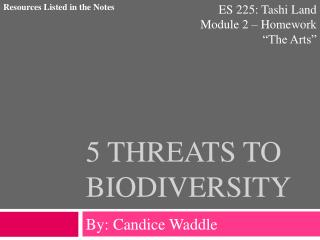 5 Threats to Biodiversity