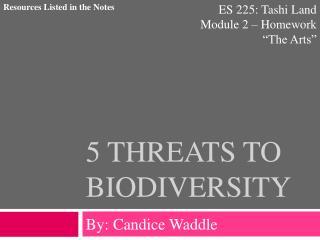 5 Threats to Biodiversity
