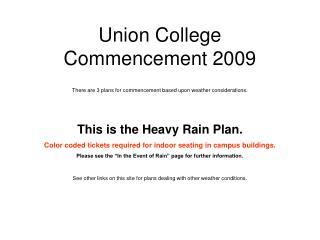 Union College  Commencement 2009