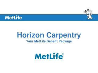 Horizon Carpentry Your MetLife Benefit Package