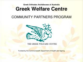Greek Orthodox Archdiocese of Australia Greek Welfare Centre