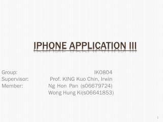 IPhone Application III