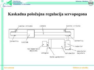 Kaskadna položajna regulacija servopogona