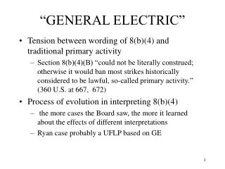 """GENERAL ELECTRIC"""