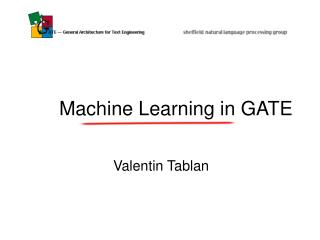 Machine Learning in GATE