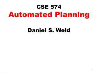 CSE 574 Automated Planning