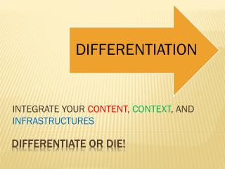 Differentiate or DIE!
