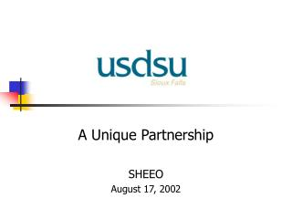 A Unique Partnership SHEEO August 17, 2002