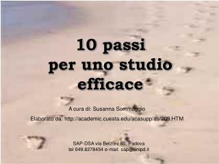 10 passi  per uno studio efficace