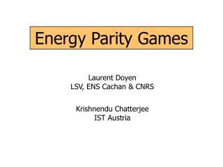 Energy Parity Games