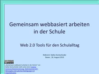 Gemeinsam webbasiert arbeiten in der Schule