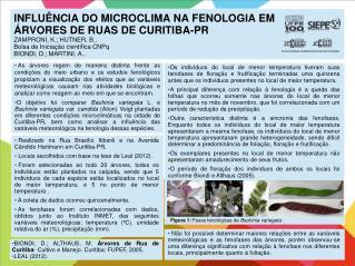 BIONDI, D.; ALTHAUS, M.  Árvores de Rua de Curitiba - Cultivo e Manejo. Curitiba: FUPEF, 2005.