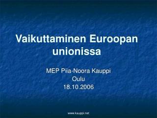 Vaikuttaminen Euroopan unionissa