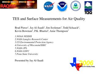 TES and Surface Measurements for Air Quality