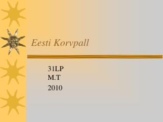 Eesti Korvpall