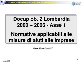 Milano 16 ottobre 2007