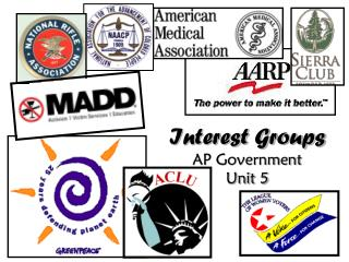 Interest Groups  AP Government Unit 5
