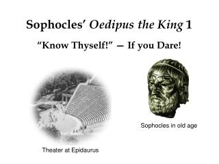 Sophocles'  Oedipus the King  1