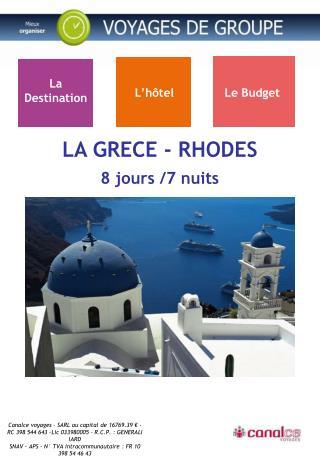 LA GRECE - RHODES