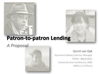 Patron-to-patron Lending
