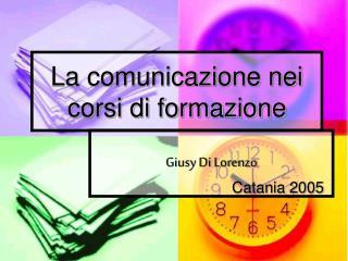 La comunicazione nei corsi di formazione