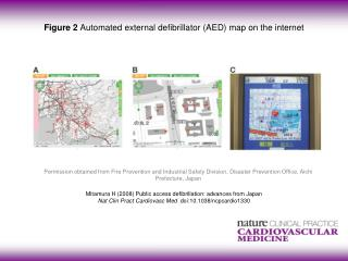 Figure 2  Automated external defibrillator (AED) map on the internet