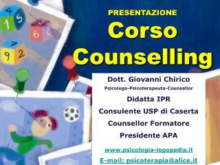 PRESENTAZIONE  Corso  Counselling