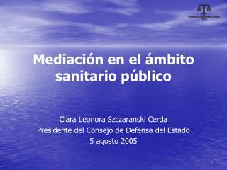 Mediación en el ámbito sanitario público