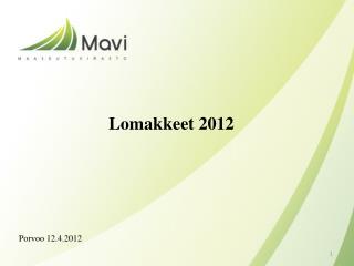 Lomakkeet 2012