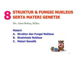 Materi: A.  Struktur dan Fungsi Nukleus B. Biosintesis Nukleus C.Materi Genetik