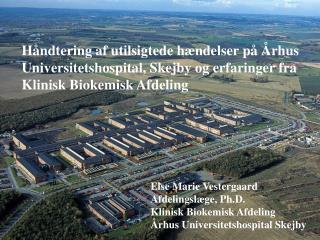 Else Marie Vestergaard Afdelingslæge, Ph.D. Klinisk Biokemisk Afdeling