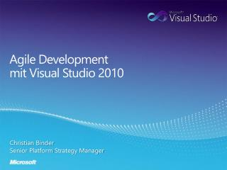 Agile Development mit  Visual Studio 2010