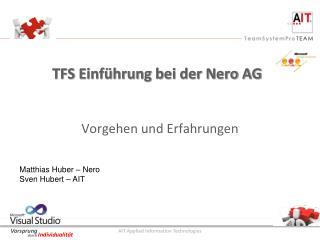 TFS Einf�hrung bei der Nero AG