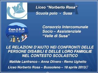 """Consorzio Intercomunale Socio – Assistenziale """"Valle di Susa"""""""