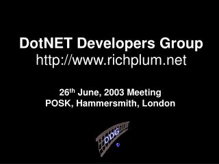 DotNET Developers Group  richplum
