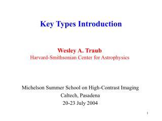 Key Types Introduction